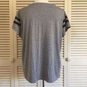 Tops - Grey tee with mesh accent stripes